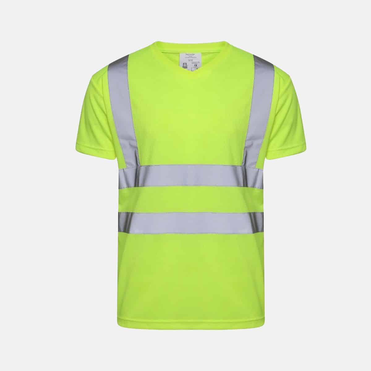 Hi Vis V Neck T-Shirt