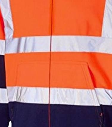Hi Vis Fleece Full Zip Two Tone Orange Hoody