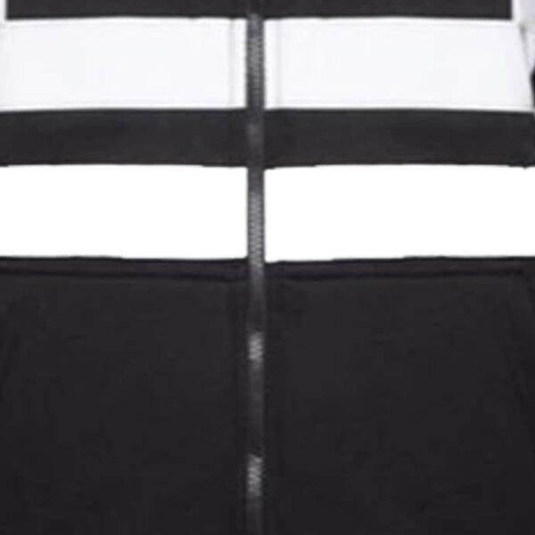 Hi Vis Fleece Full Zip Plain Hoody - Black