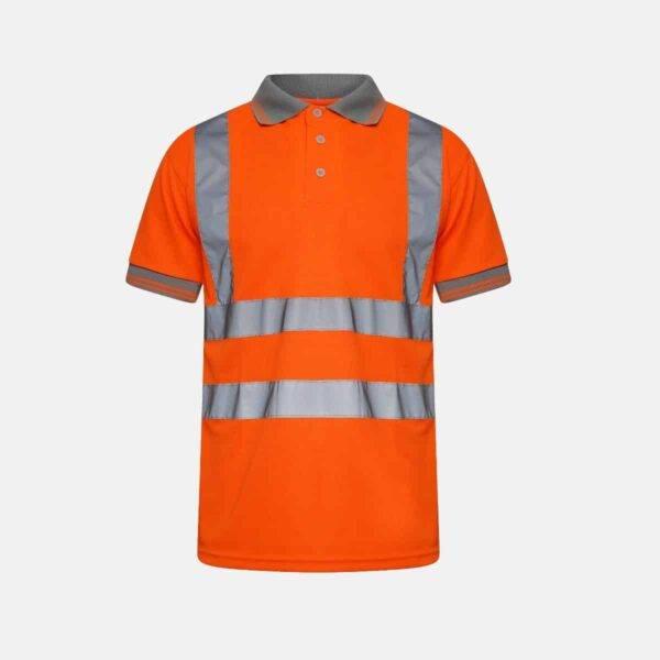 Hi Vis Breathable Short Sleeve Polo Shirt