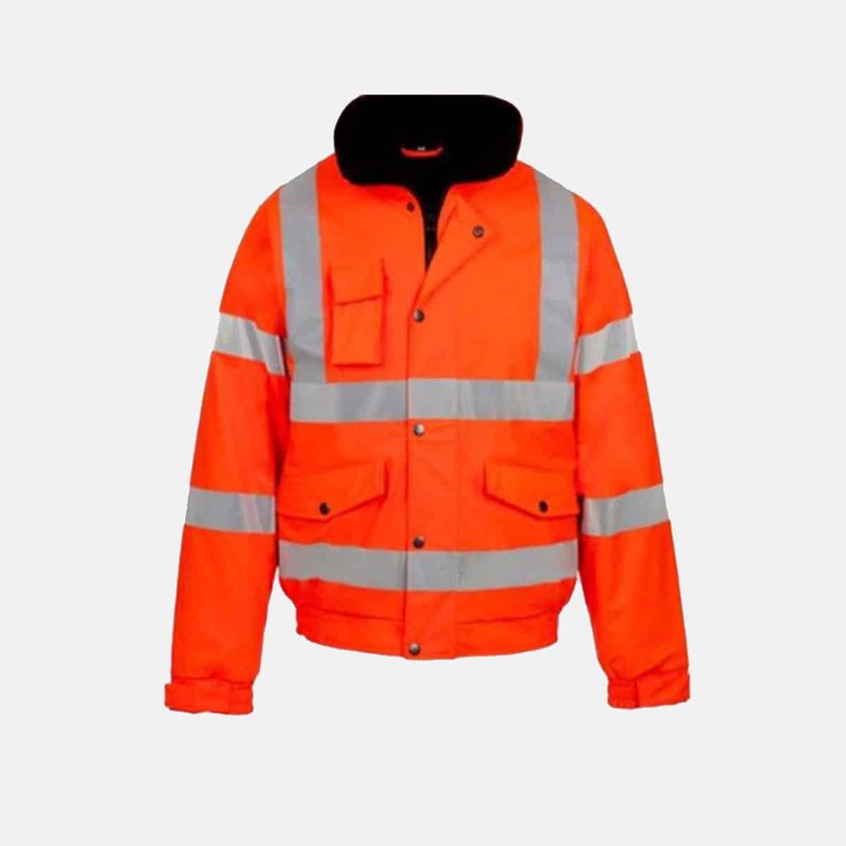High Visibility Bomber Jacket In Orange