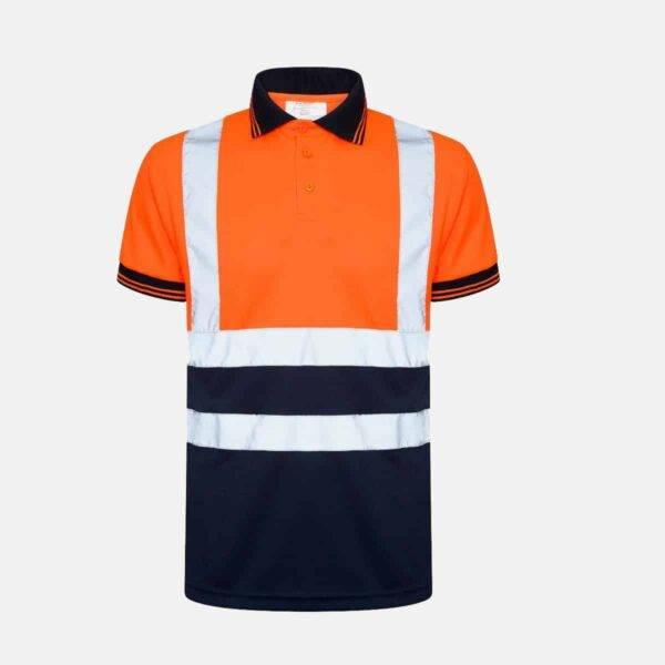 Hi Vis Breathable Short Sleeve Two Tone Polo shirt
