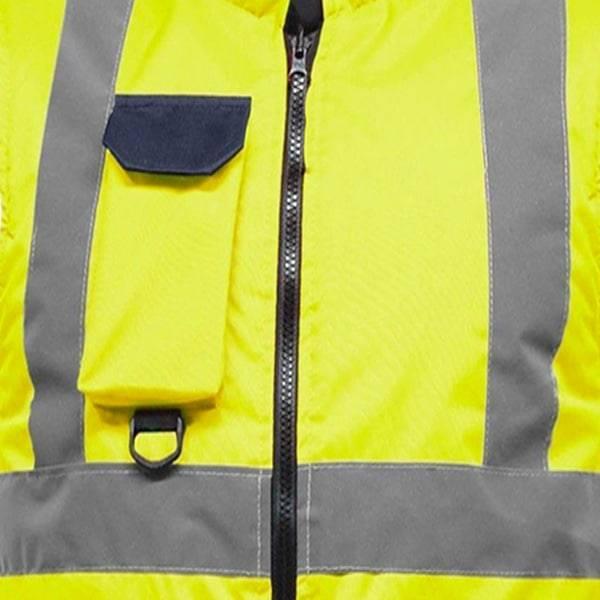 Hi Vis Fleece Reversible Body Warmer Waist Coat Two Tone Yellow