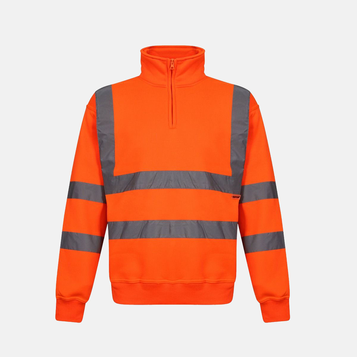 Hi Vis Quarter Zip Fleece Orange Sweatshirt