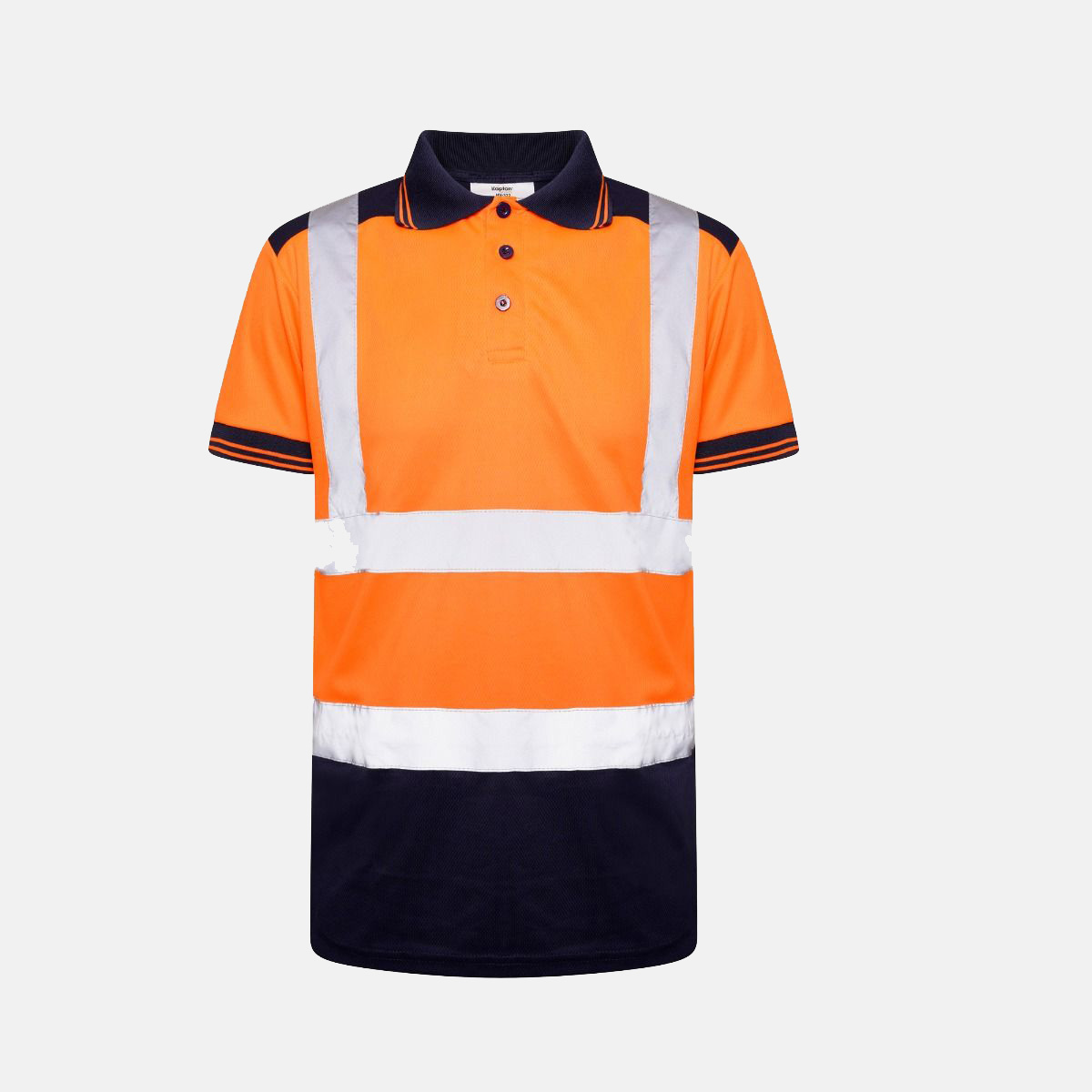 Hi Vis Short Sleeve Polo Shirt Railway Standard with Shoulders Patch