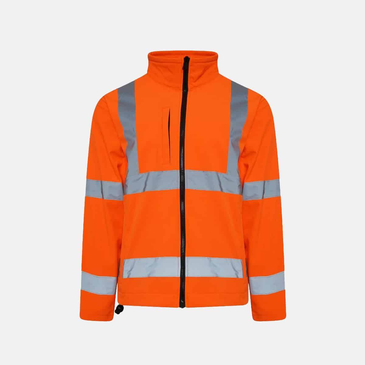 Hi Vis Soft Shell Jacket Plain
