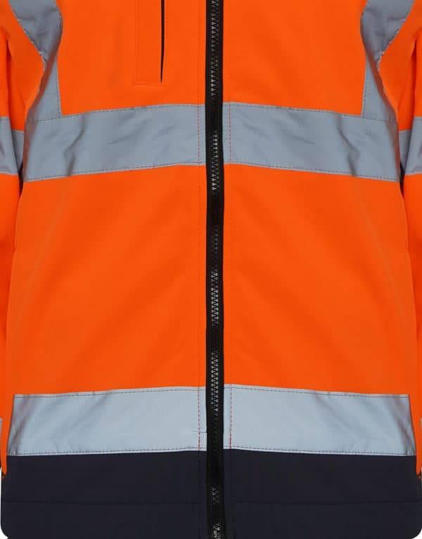 High Visibility Soft Shell Jacket Two Tone - Orange