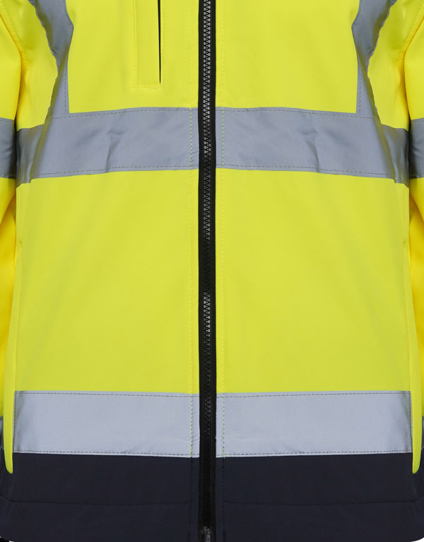 High Visibility Soft Shell Jacket Two Tone - Yellow
