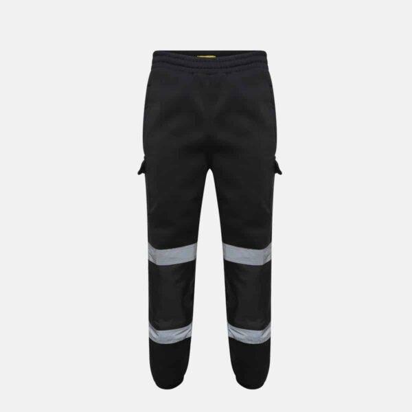 Hi Vis Jogging Bottoms Black by Supertouch