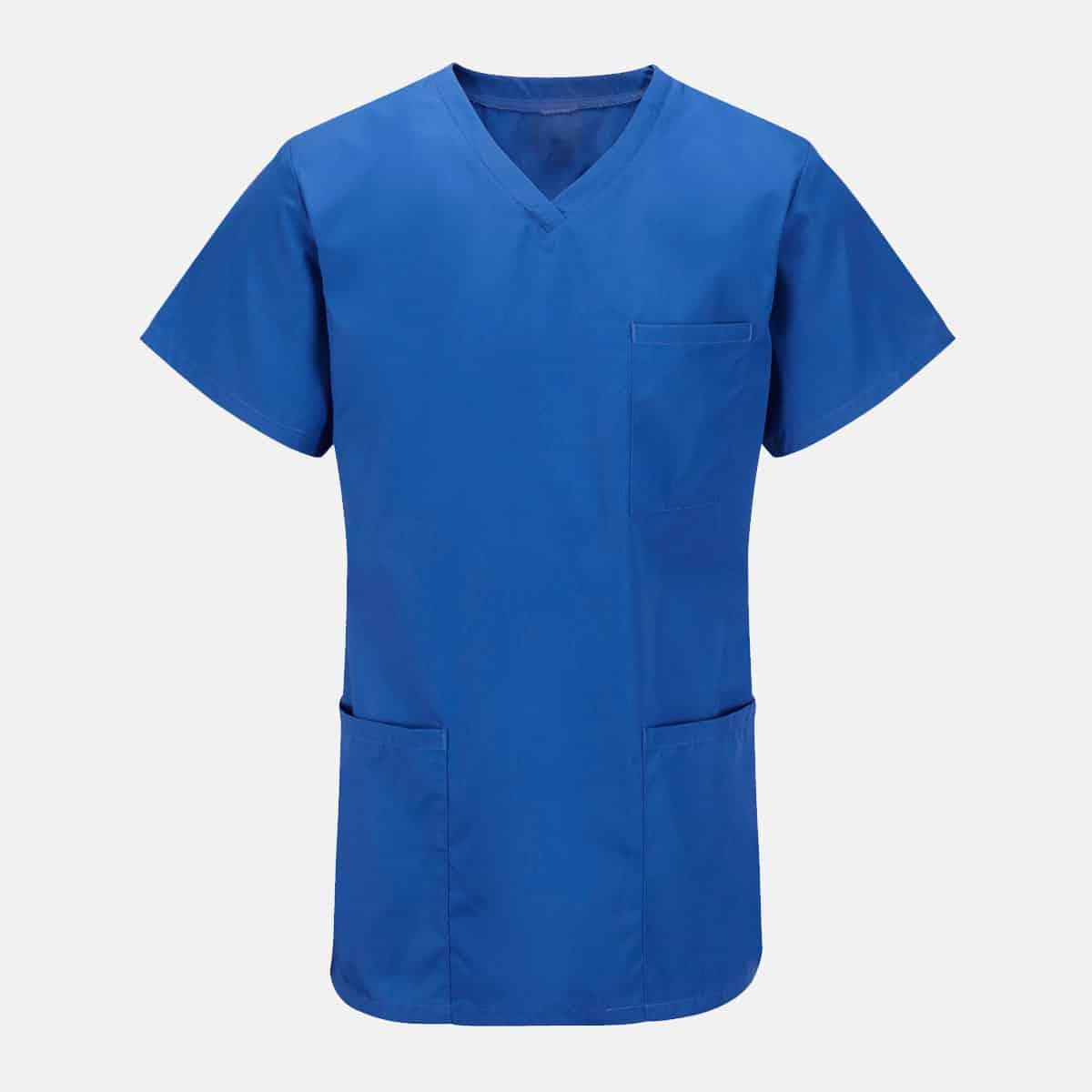 Unisex Short Sleeves V-Neck Scrub Top