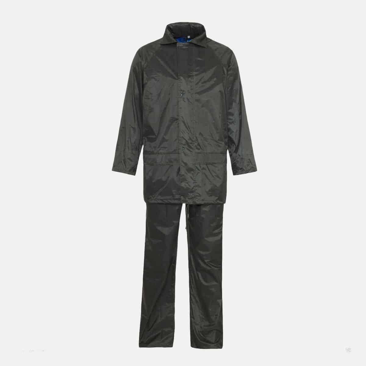 Supertouch Polyester/PVC Black Rainsuit