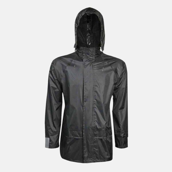 Adults Black Waterproof Jacket by Baum Country