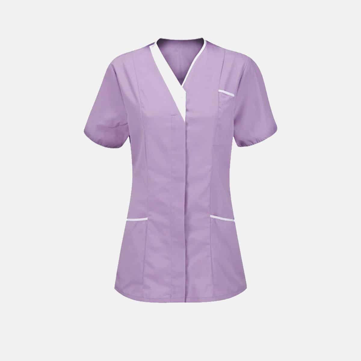 Nurses V Neck Healthcare Tunic Therapist Dentist Uniform