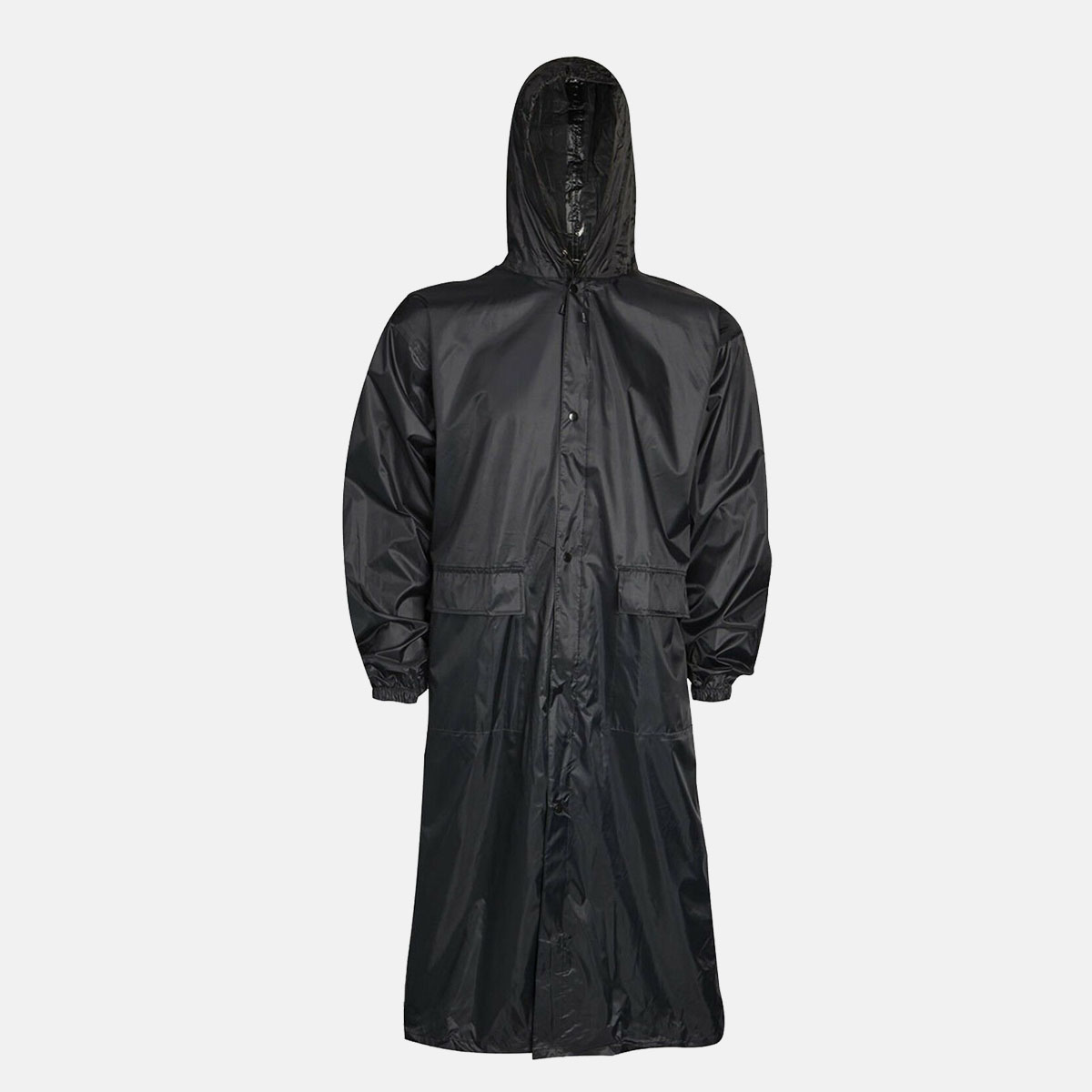 Adults Black Waterproof Long Coat by Baum Country