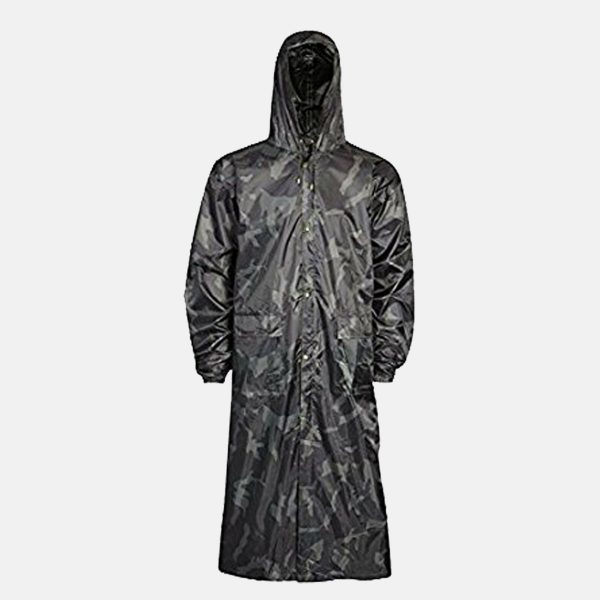 Adults Camouflage Waterproof Long Coat by Baum Country