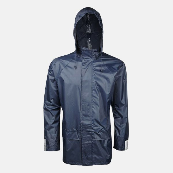 Adults Navy Blue Waterproof Jacket by Baum Country