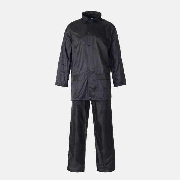 Supertouch Polyester/PVC Navy Blue Rainsuit