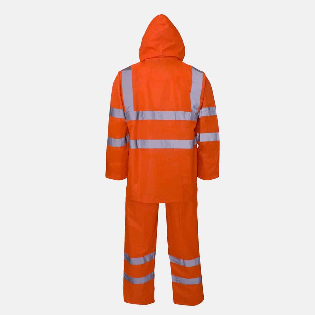 Polyester/PVC Hi Vis Orange Rainsuit by Supertouch