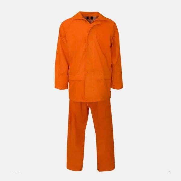 Supertouch Polyester/PVC Orange Rainsuit