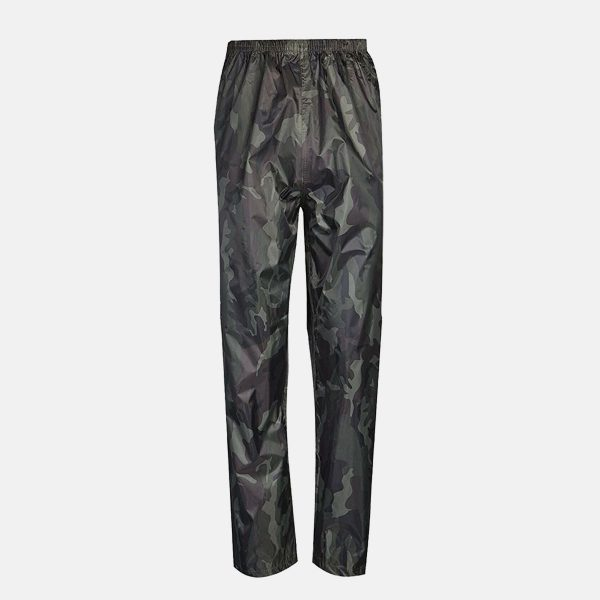 Adults Camouflage Waterproof Over Trousers by Baum Country