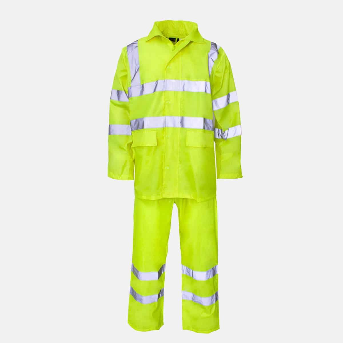 Polyester/PVC Hi Vis Yellow Rainsuit by Supertouch