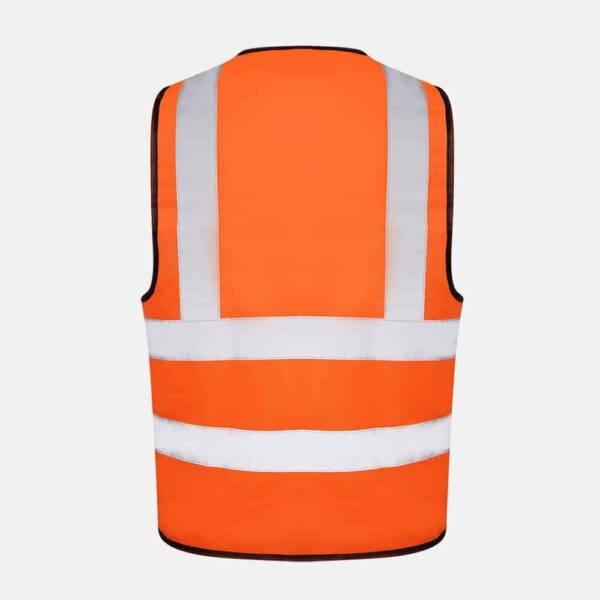 Hi Vis Safety Vest By Kapton in Orange Colour