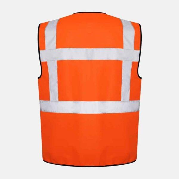 Hi Vis Executive Utility Safety Vest / Waistcoat By Kapton in Orange Colour