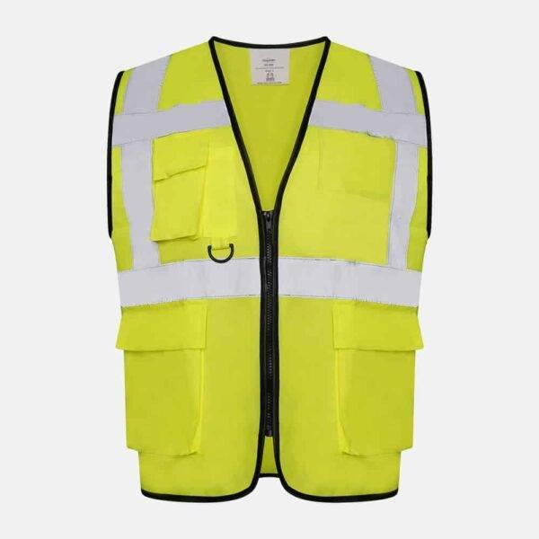 Hi Vis Executive Utility Safety Vest / Waistcoat By Kapton
