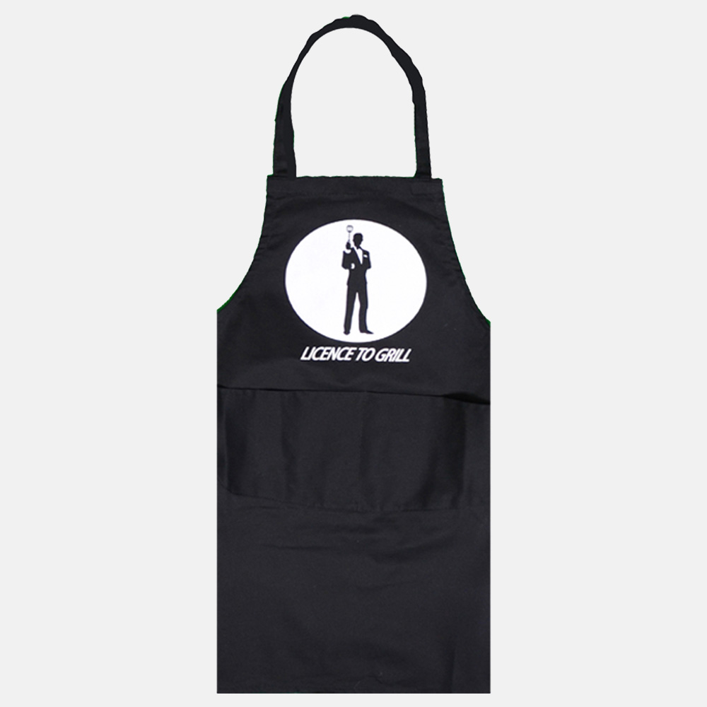 Licence To Grille Apron For Men & Women In Black Colour