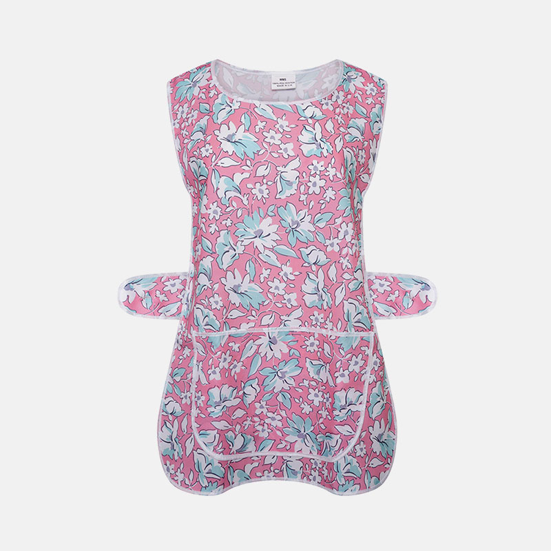 Ladies Tabard Cooking & Cleaning Overall Apron In Floral Printed Pattern