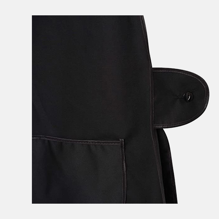 Ladies Tabard Cooking & Cleaning Overall Apron With Black Piping In Black Colour